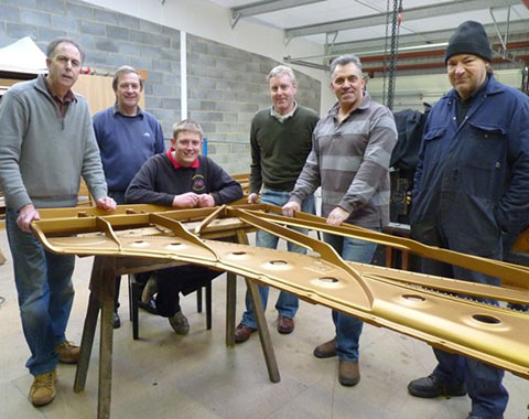 Piano restoration team